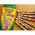 画像1: Crayola クレオラ かわいい絵柄の色えんぴつ8色 (1)