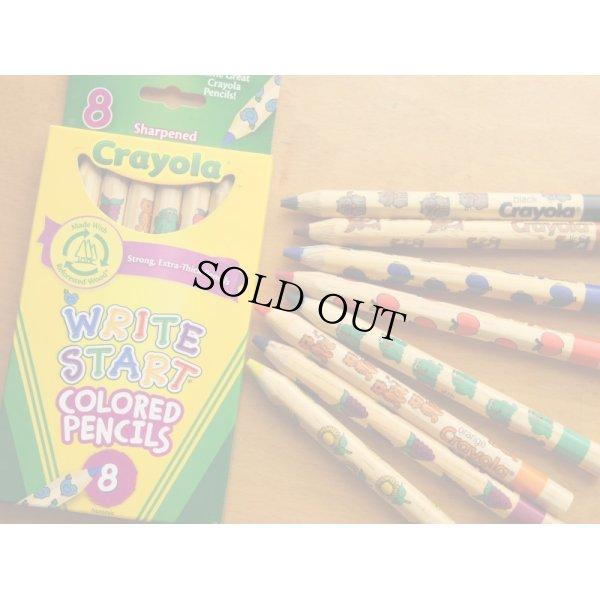 画像1: Crayola クレオラ かわいい絵柄の色えんぴつ8色