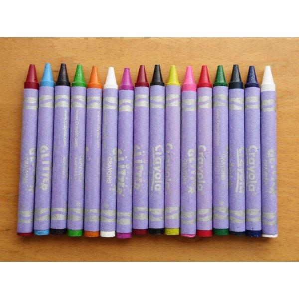画像3: Crayola ラメラメクレヨン 16色