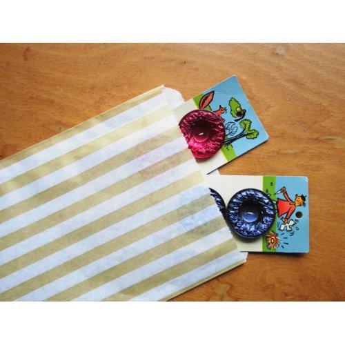 他の写真3: イギリス ストライプ紙袋(ゴールド)