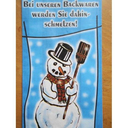 他の写真2: ドイツ パン屋さんの紙袋 (雪だるま)