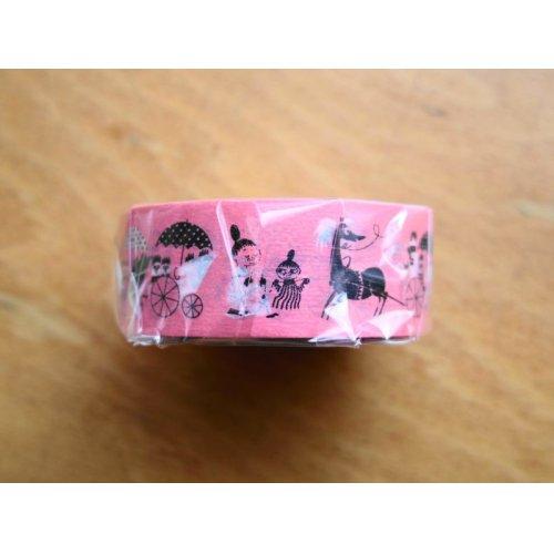 他の写真2: ムーミンマスキングテープ 馬車とアンブレラ サーモン