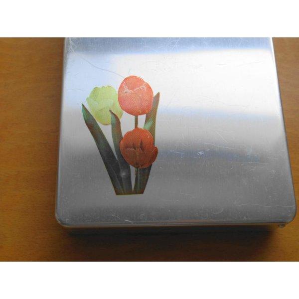 画像3: 昭和レトロ アルミのお弁当箱 チューリップ