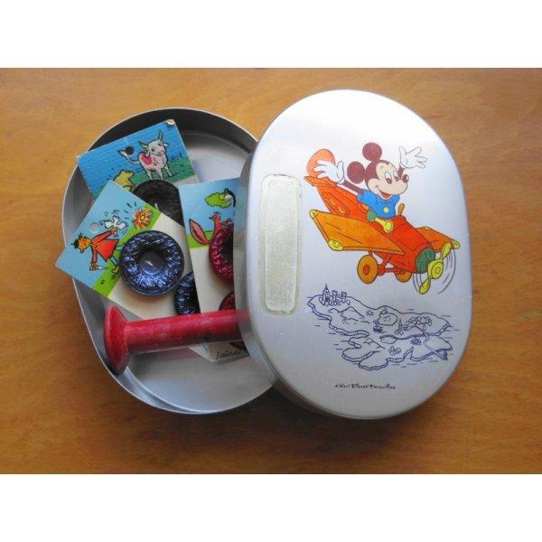 画像1: 昭和レトロ アルミのお弁当箱 ミッキーマウス