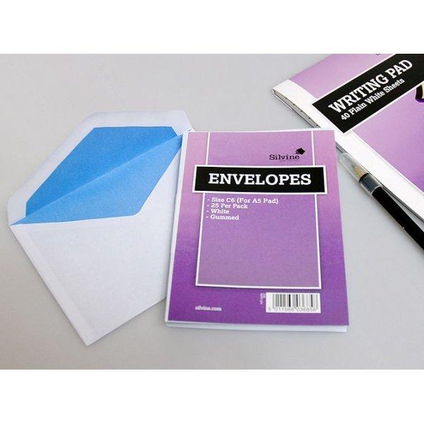 画像1: イギリス SILVINE 封筒(白無地・25枚入)