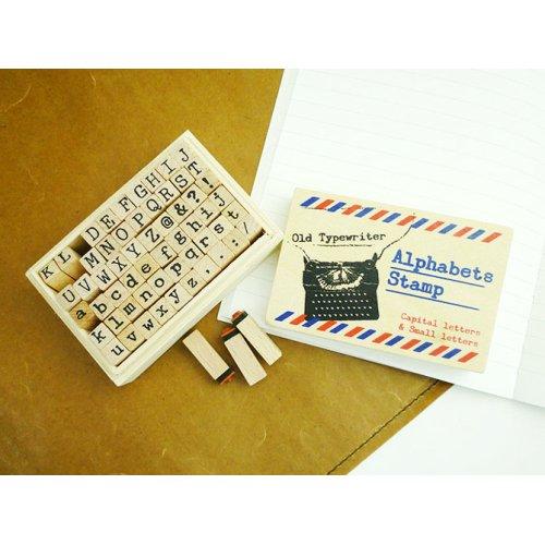 他の写真1: ウッドスタンプ タイプライターフォント(アルファベットS)