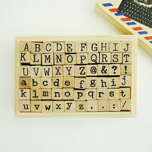 他の写真3: ウッドスタンプ タイプライターフォント(アルファベットS)
