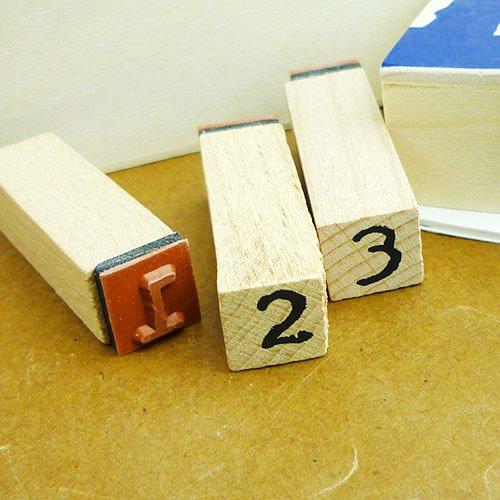 他の写真2: ウッドスタンプ タイプライターフォント (ナンバーL)
