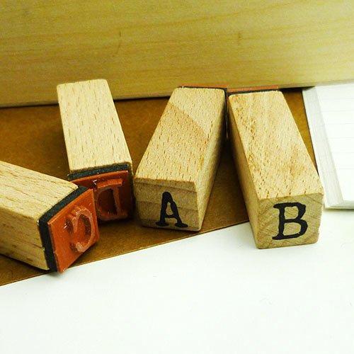 他の写真2: ウッドスタンプ タイプライターフォント (アルファベットL)