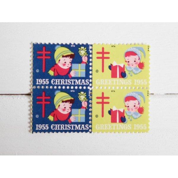 画像1: アメリカクリスマスシール'55