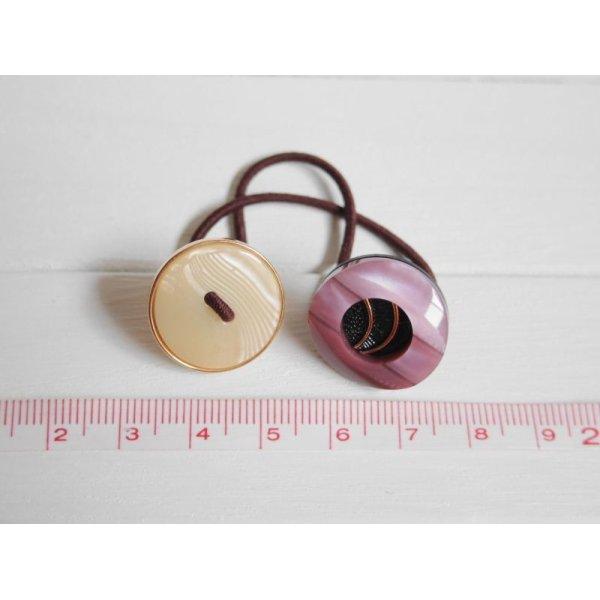 画像4: レトロボタンのヘアゴム