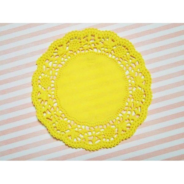 画像3: ドイツ カラーレースペーパー 黄色 5枚セット