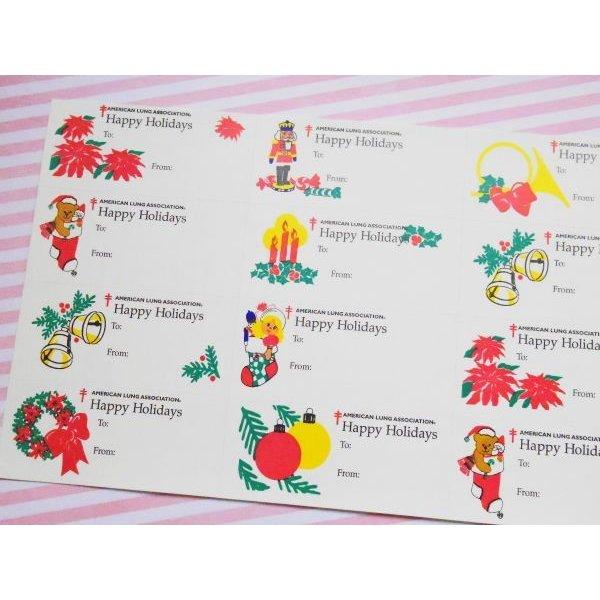 画像1:  アメリカクリスマスシール'96 オーナメントシート12枚