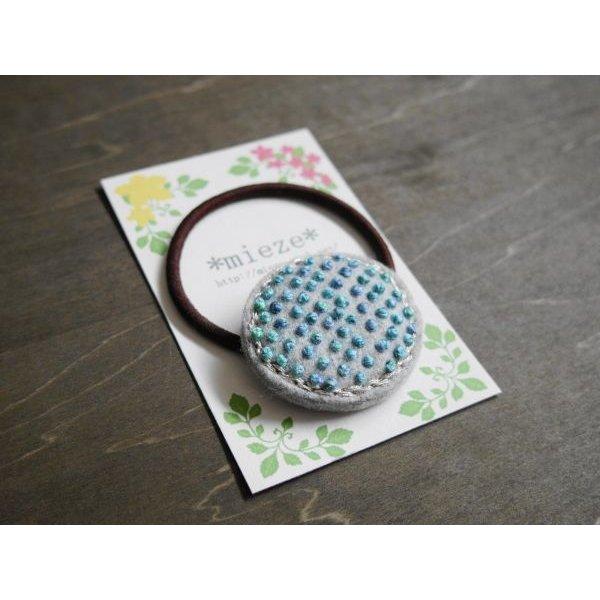画像2: #T02 つぶつぶ刺繍のヘアゴム