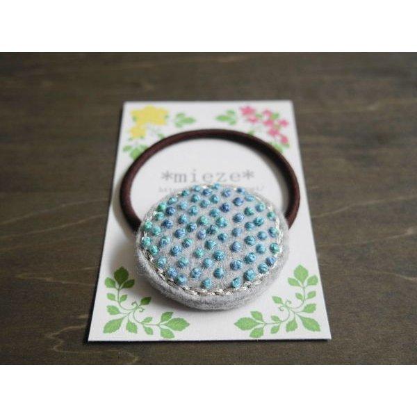 画像3: #T02 つぶつぶ刺繍のヘアゴム