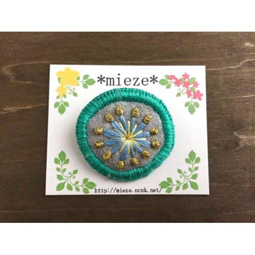 他の写真1: #001 まるくて可愛い刺繍のブローチ